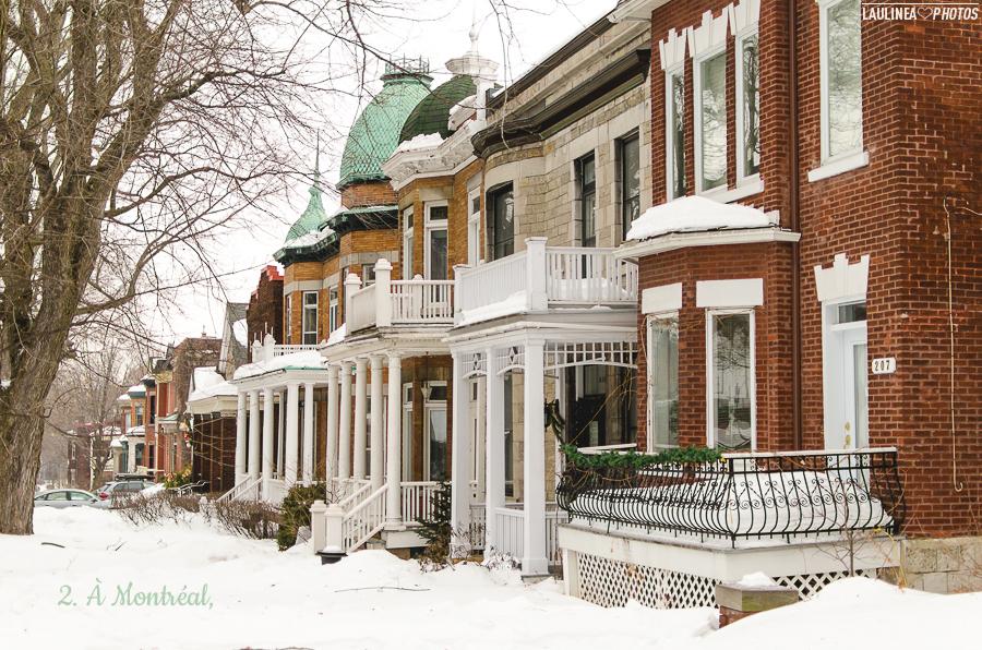 hier, montréal, canada, neige, froid