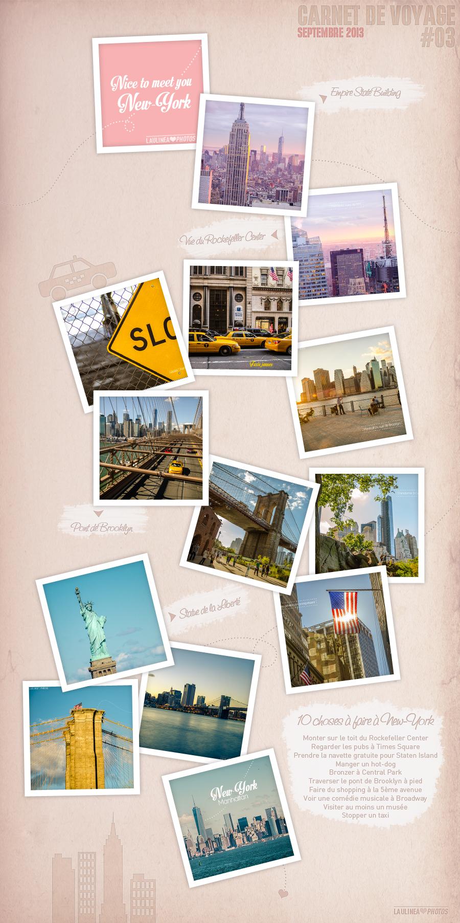 brooklyn, central park, manhattan, New-York, rockfeller center, statue de la liberté, usa, vacances, voyage, week-end, carnet de voyage
