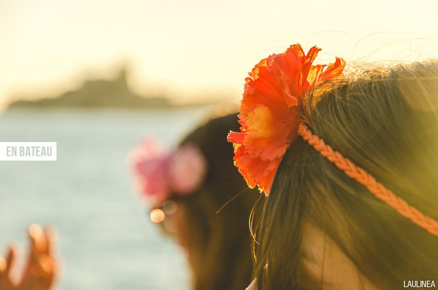 france, marseille, sud, PACA, vacances, été, plage, fleurs, filles, coiffure