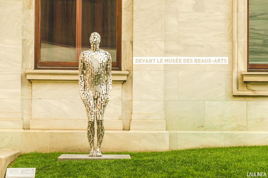 Montréal, canada, downtown, beaux-arts, musée, statue, art,