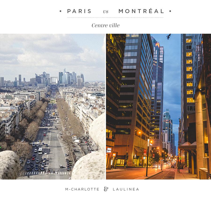 paris, montreal, centre ville, architecture, ville