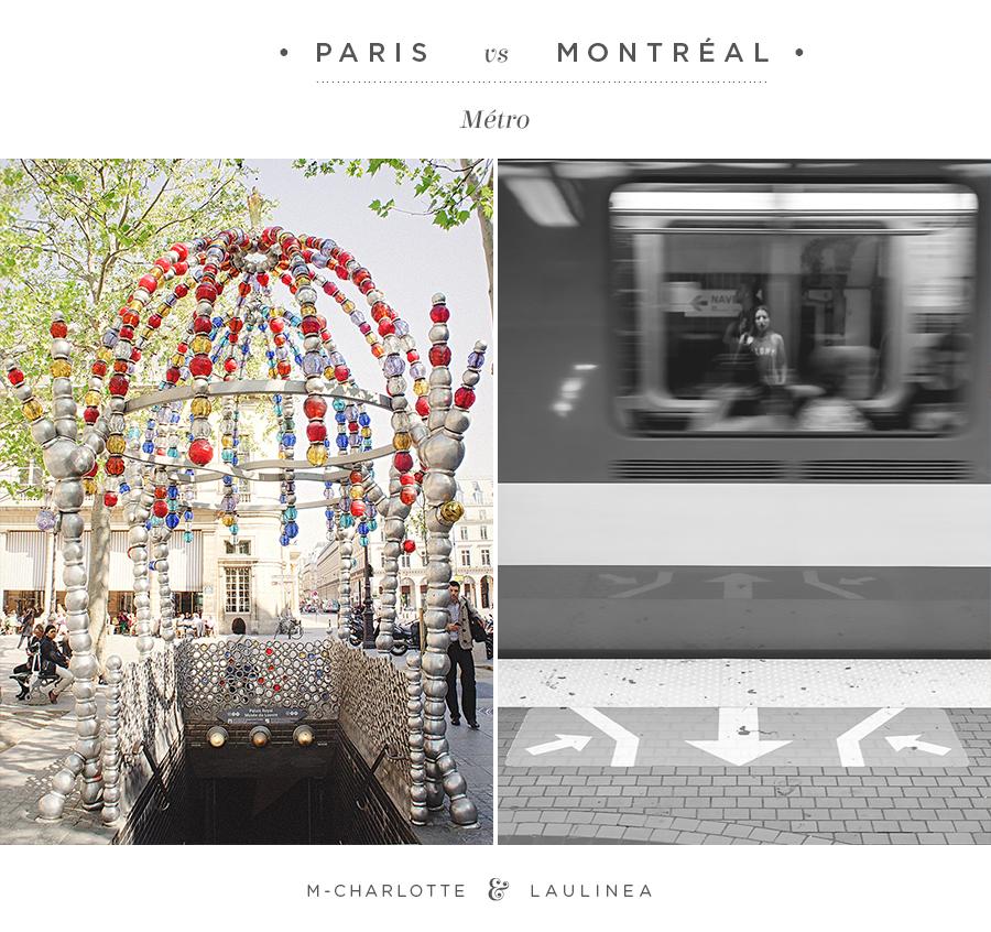 métro, paris, montréal