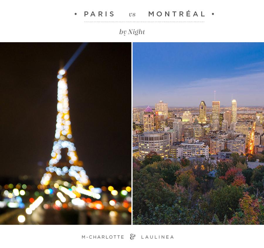 paris, montréal, night, nuit