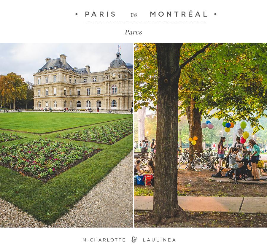 parc, paris vs montreal, paris, montreal, nature