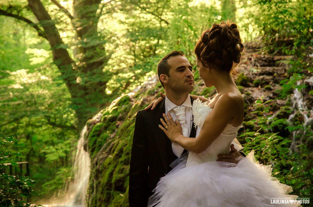 mariage, wedding, forêt, couple, mariée