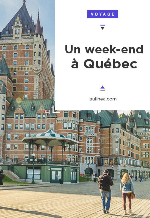 Quoi faire, quoi voir en un week-end à Québec City, Canada ? A voir : la fresque des Québecois, la place Royale, le chateau Frontenac, la rue du Petit Champlain, la promenade des gouverneurs, les plaines d'Abraham
