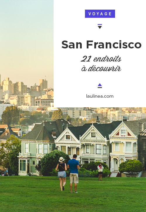 San Francisco, Etats-Unis, 21 choses à découvrir lors d'un voyage d'une semaine.  Nob Hill - Russian Hill - North beach (Telegraph Hill) - Haight-Ashbury - The Castro - Chinatown - Golden Gate Bridge - Marin Headlands - Pier 39 - Lombard Street - Painted Ladies - Corona Heights Park (Twin Peaks) - Palace of Fine Arts - Baker Beach - Alcatraz - Cable Car - Japanese Tea Garden - California Academy of Sciences - Aquarium of the Bay - Baie de San Francisco #roadtrip #travel #discoverus