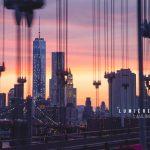 photo du mois, coucher de soleil, new york, brooklyn bridge, skyline nyc