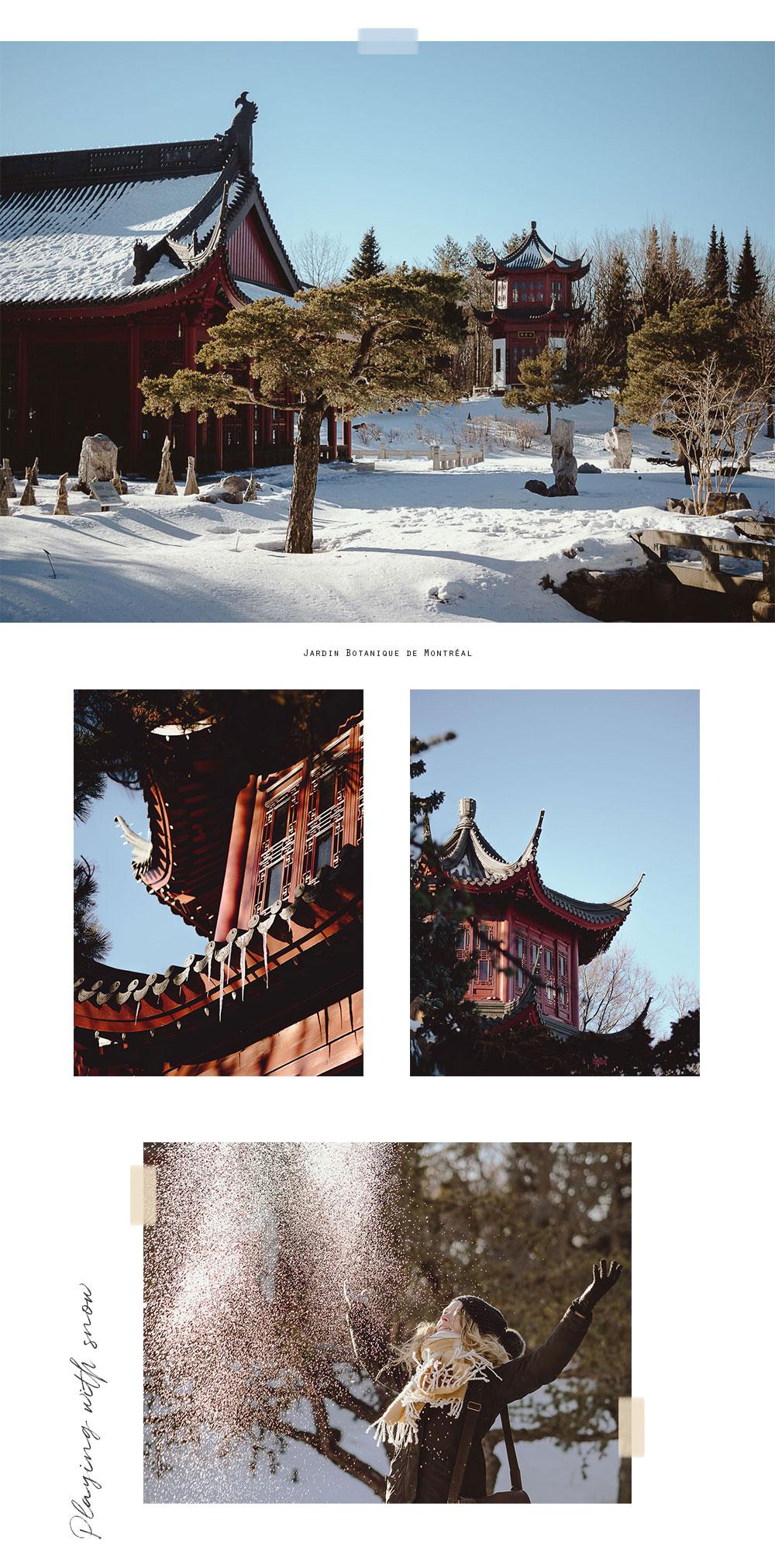 C'est LA sortie que je vous conseille de faire cet hiver pour un dépaysement total en pleine ville, et c'est gratuit ! Voici une séance portrait au Jardin de Chine dans le Jardin Botanique de Montréal, en plein hiver.